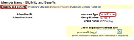 Member name eligibility and benefits premier plan