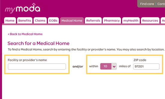 Search for a Medical Home